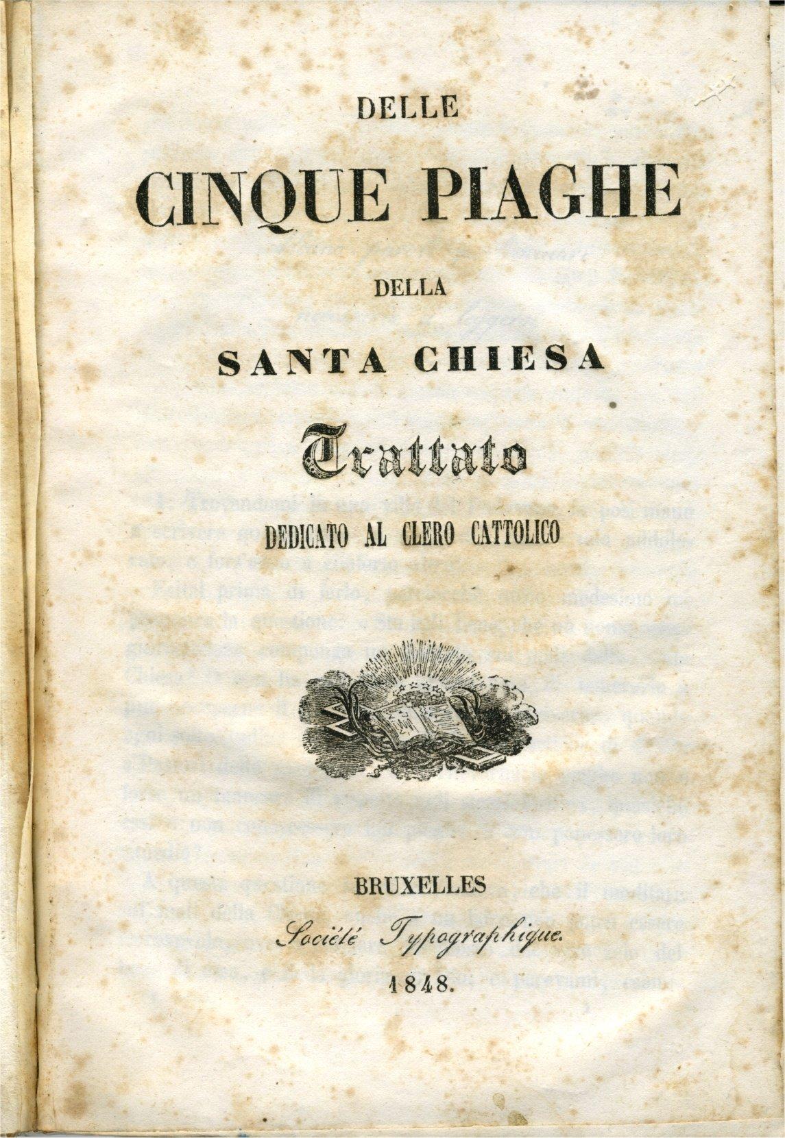 Antonio Rosmini - Delle cinque piaghe della Santa Chiesa